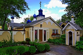 monastery library entrance